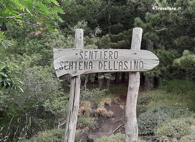 Sentiero Schiena dell'Asino - Escursione sull'Etna fai da te